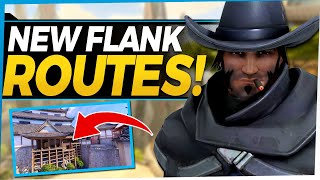 Overwatch NEW McCree Fląnks and Shortcuts! Powerful New Tricks with Buffed Roll Ability