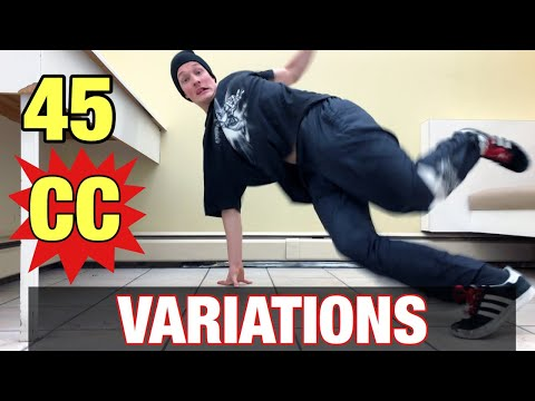 45 CC Variations | How To Breakdance | Advanced + Beginner Footwork
