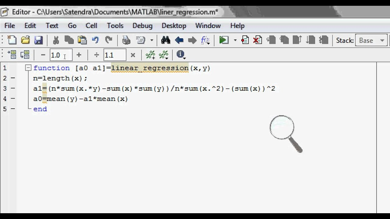 What is Linear Regression | how to do it in Matlab | How to use functions  in matlab