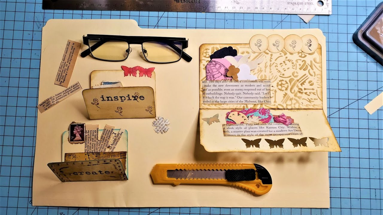 GOT FILE FOLDERS? Create Easy Mini File Folders for Your Junk Journal! The Paper Outpost:)