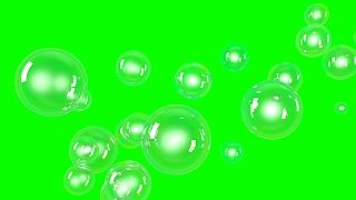 Bubbles. Green Screen. Full HD. Free