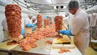 Halal Guda Doner Kebap - döner kebab production