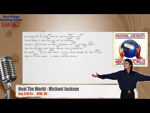 Heal The World - Michael Jackson Vocal Backing Track with chords and lyrics