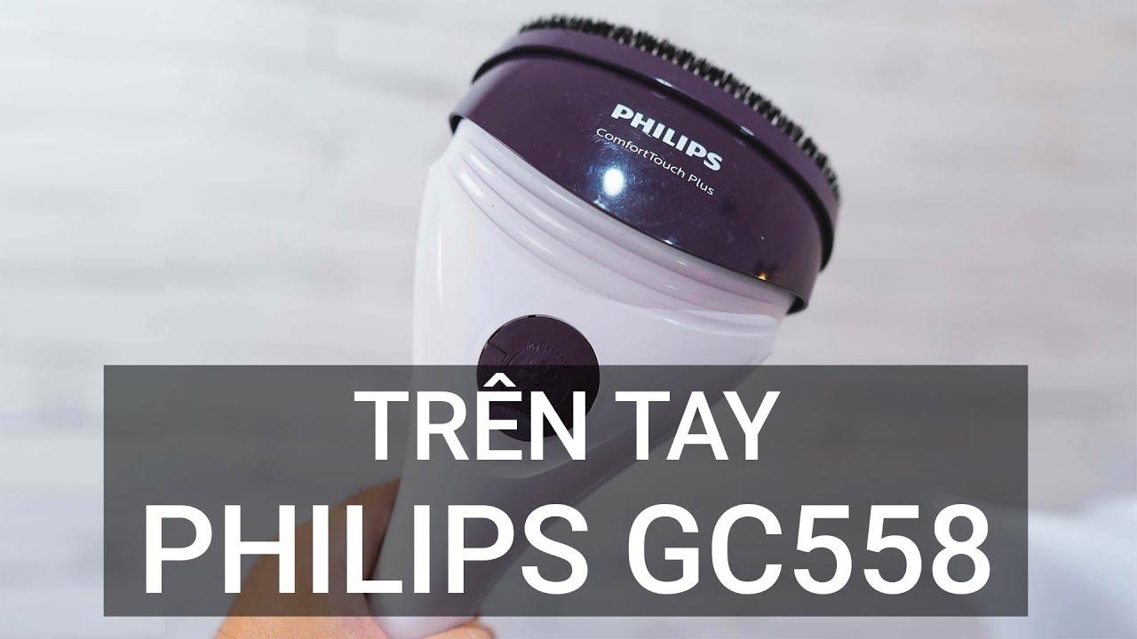 Trên tay bàn ủi hơi nước Philips GC558
