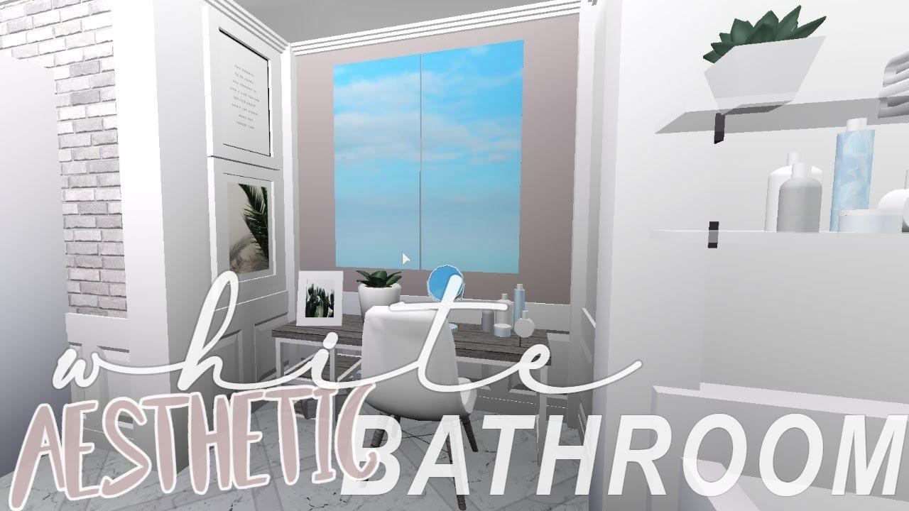 White Aesthetic Bathroom Bloxburg Youtube