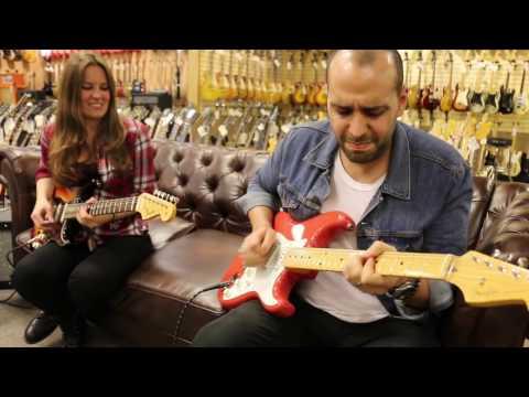 Guitar Close Up - 2 Fender American Vintage Hot Rod Stratocasters $2299