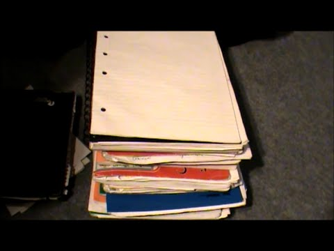 ASMR-Sorting out papers, no talking, binaural