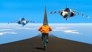 CAN A BMX ESCAPE SUPER FAST PLANES?! (GTA 5 Funny Moments)