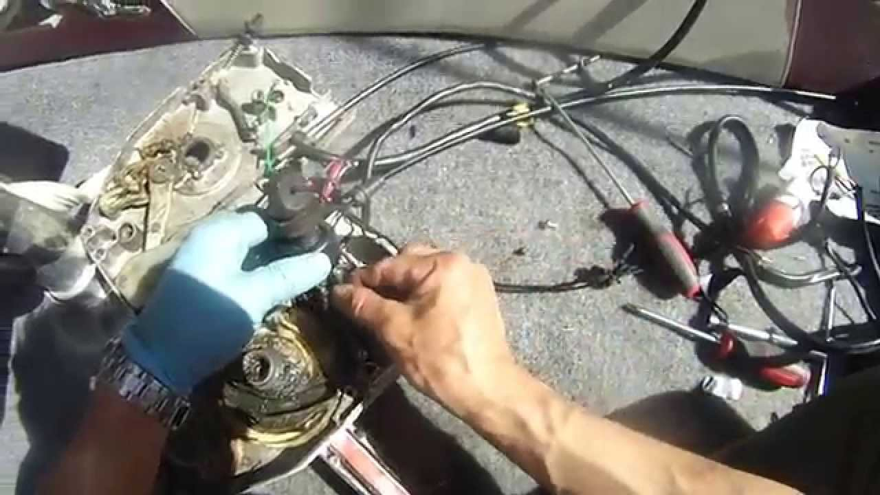 Johnson 90 Hp V4 How To Troubleshoot Motor Wont Shut Off Part 1 1971 85 Horse Wire Diagram Of 3