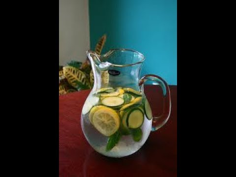 How to Make Cucumber Lemon Ginger Detox Water: Cooking with Kimberly