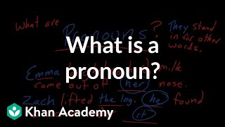 What is a pronoun? | The parts of speech | Grammar | Khan Academy