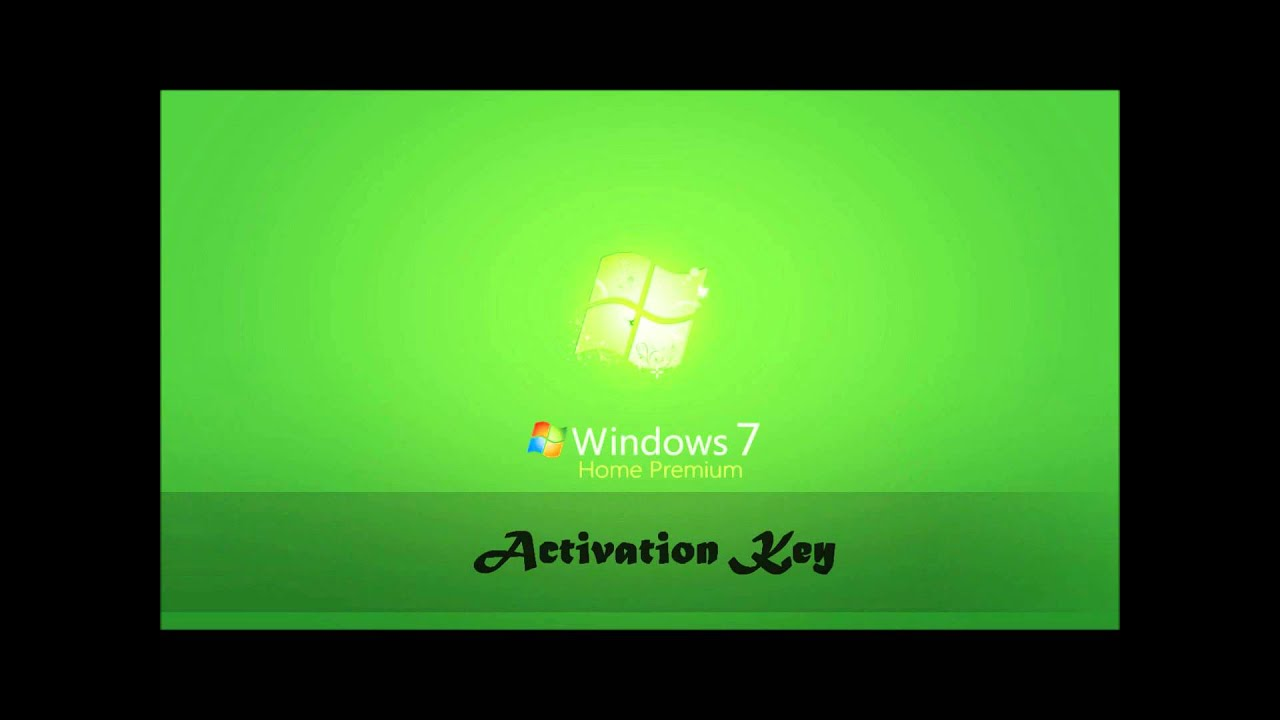Activation Key of Windows 7 Home Premium - YouTube
