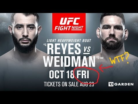 FGB 173: Reyes vs Weidman Preview - We're Doing Fights On Fridays Now?