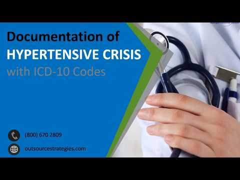 Documentation of Hypertensive Crisis with ICD-10 Codes