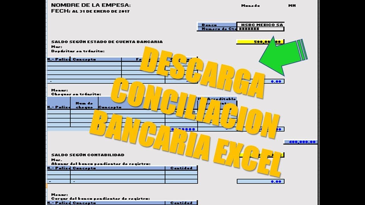 que es la conciliacion bancaria descarga  gratis formato