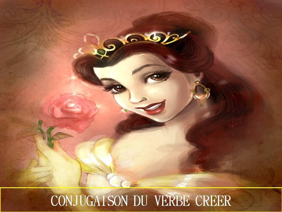 Cours Francais Facile Conjugaison Du Verbe Creer 1ere Partie Youtube