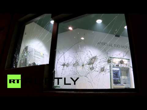 Italy: CLASHES at rally for culture centre attack victim