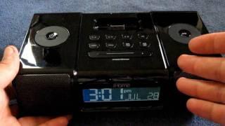Review iHome IP9 Alarm Clock Radio Universal Dock iPhone iPod
