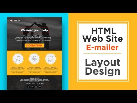 Website HTML E-mailer Layout Design In Adobe Photoshop Cc
