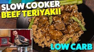 Low Carb SLOW COOKER Beef Teriyaki Meal Prep