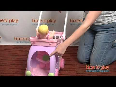 Fisher-Price Little Mommy Ride 'n Drive Shopping Cart From Tollytots