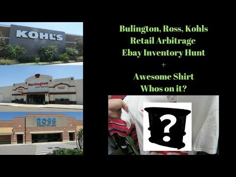 Burlington, Ross, Kohls Ebay Inventory Trip. + Who's on this awesome Shirt