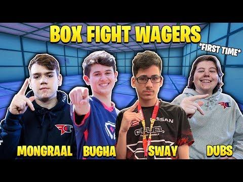 MONGRAAL, BUGHA, DUBS vs FAZE SWAY, BUCKE, KREO | 3v3 BOX FIGHTS WAGERS!