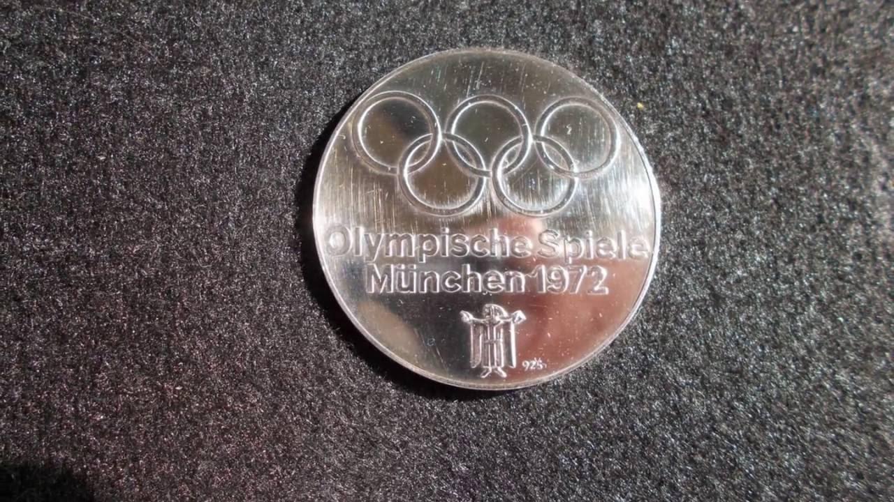 Sammlerstück Medaille Bogenschütze Olympische Spiele München 1972