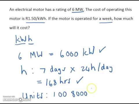 How to calculate kWh