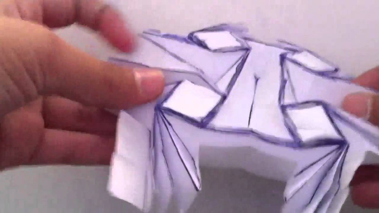 How to Make an Origami Easy Flasher - YouTube | 720x1280