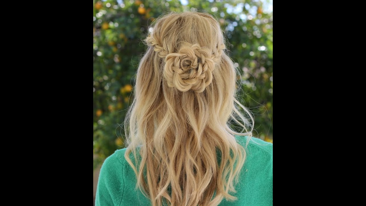 How To Flower Braid Youtube