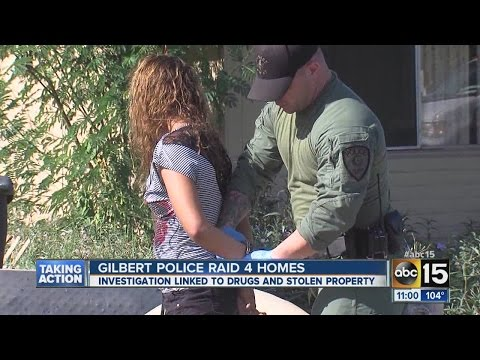 Gilbert police raid four homes
