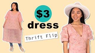 $3 Dress Thrift Flip | Thrifted Transformations