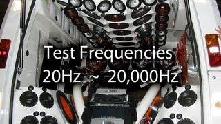 Speaker Testing - Test Tones