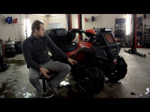 Тюнинг квадроцикла Honda Rincon TRX680FA / Tuning ATV TRX680 (Вынос радиатора, шноркель, лифт)