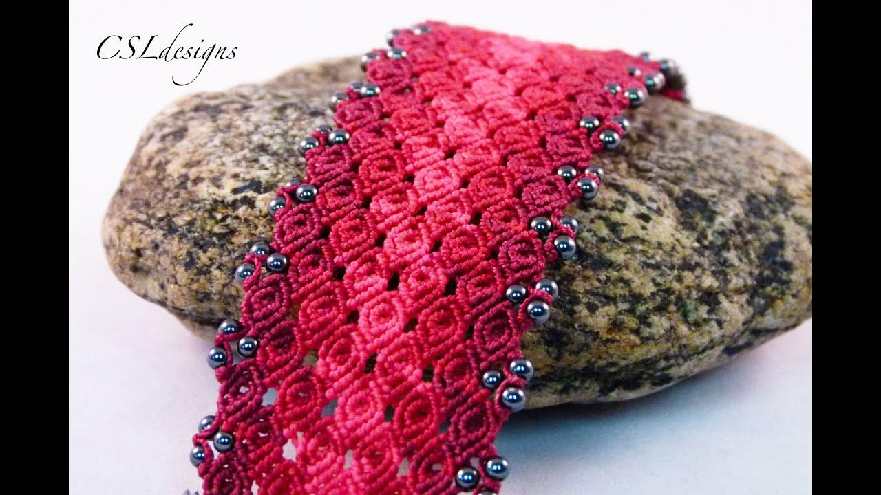 Rosebud micro macrame bracelet⎮ Valentine's Day - YouTube