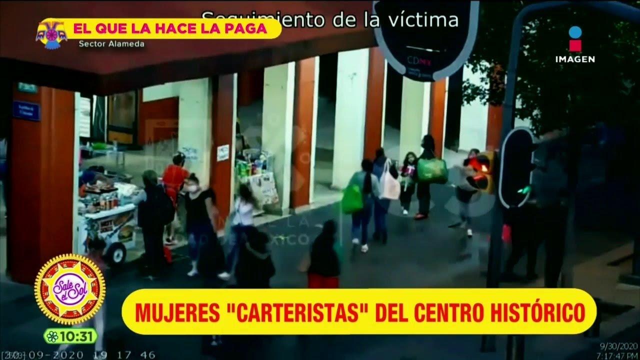 Detienen a carteristas que operaban en el Centro Histórico de CDMX   Sale el Sol