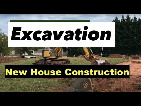 Excavation New construction Building A one story house 4,000 SF