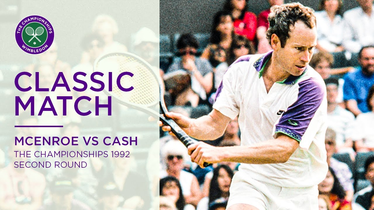John McEnroe vs Pat Cash   Wimbledon 1992 second round   Full Match