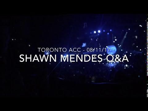 Shawn Mendes Q&A - ACC Toronto (Aug 11)