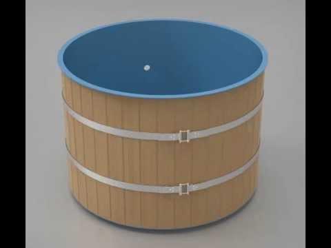 Купель для бани из полипропилена