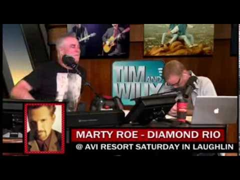 DIAMOND RIO LEAD SINGER, MARTY ROE, CALLS IN TO TIM & WILLY - 3-19-2014