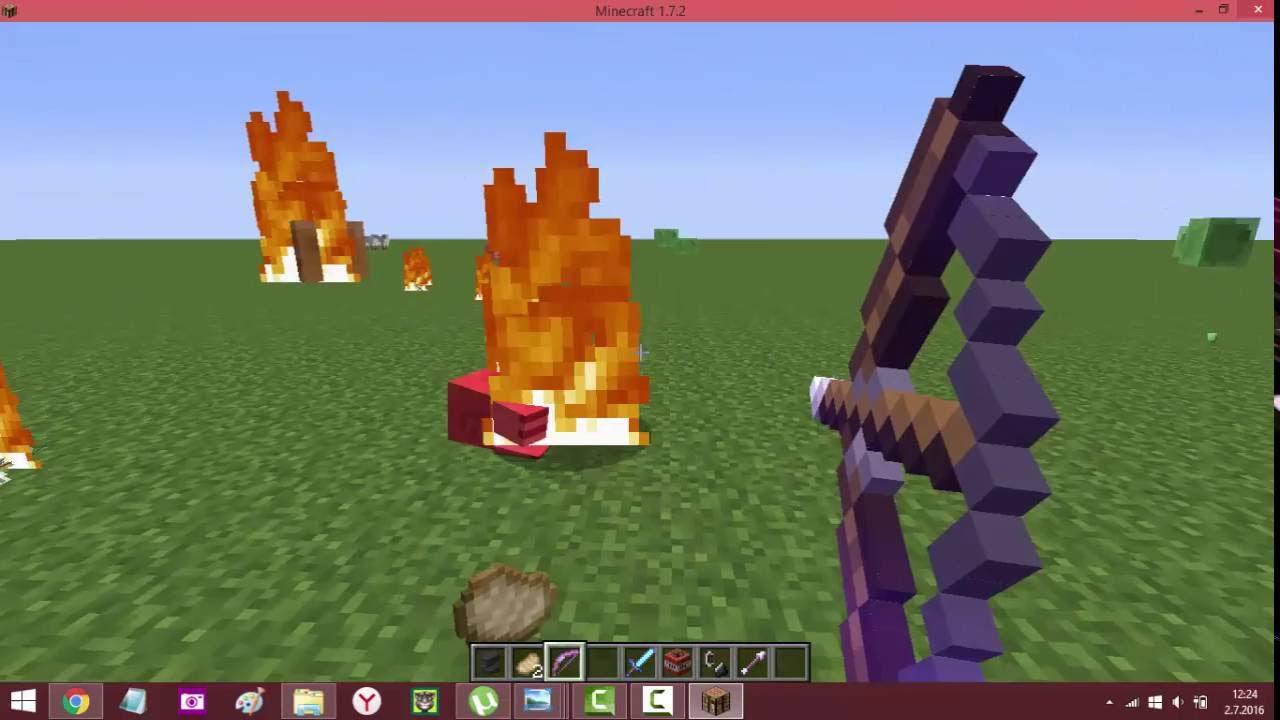 minecraftta nasıl  alevli ok yapılır ve eşyaların isimleri değiştirilir