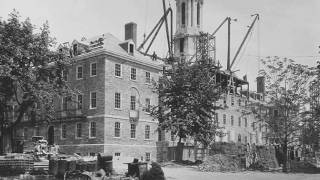 Historic Old Main Bell removed from tower for restoration and display