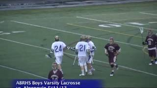 Acton Boxborough Varsity Boys Lacrosse vs Algonquin 5/11/13