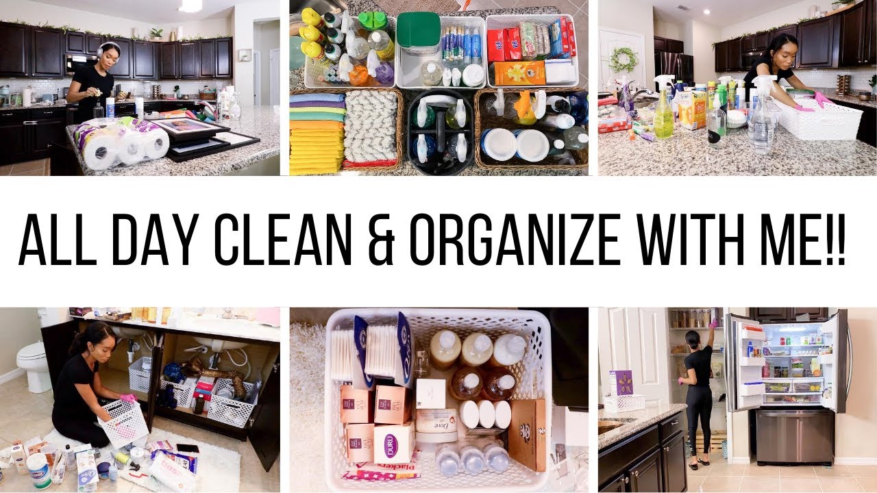 ALL DAY CLEAN & ORGANIZE WITH ME 2020 // CLEANING MOTIVATION // Jessica Tull cleaning