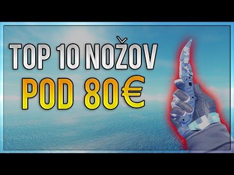 CS:GO - TOP 10 Nožov Pod 80€ (CZ/SK 1080p60)