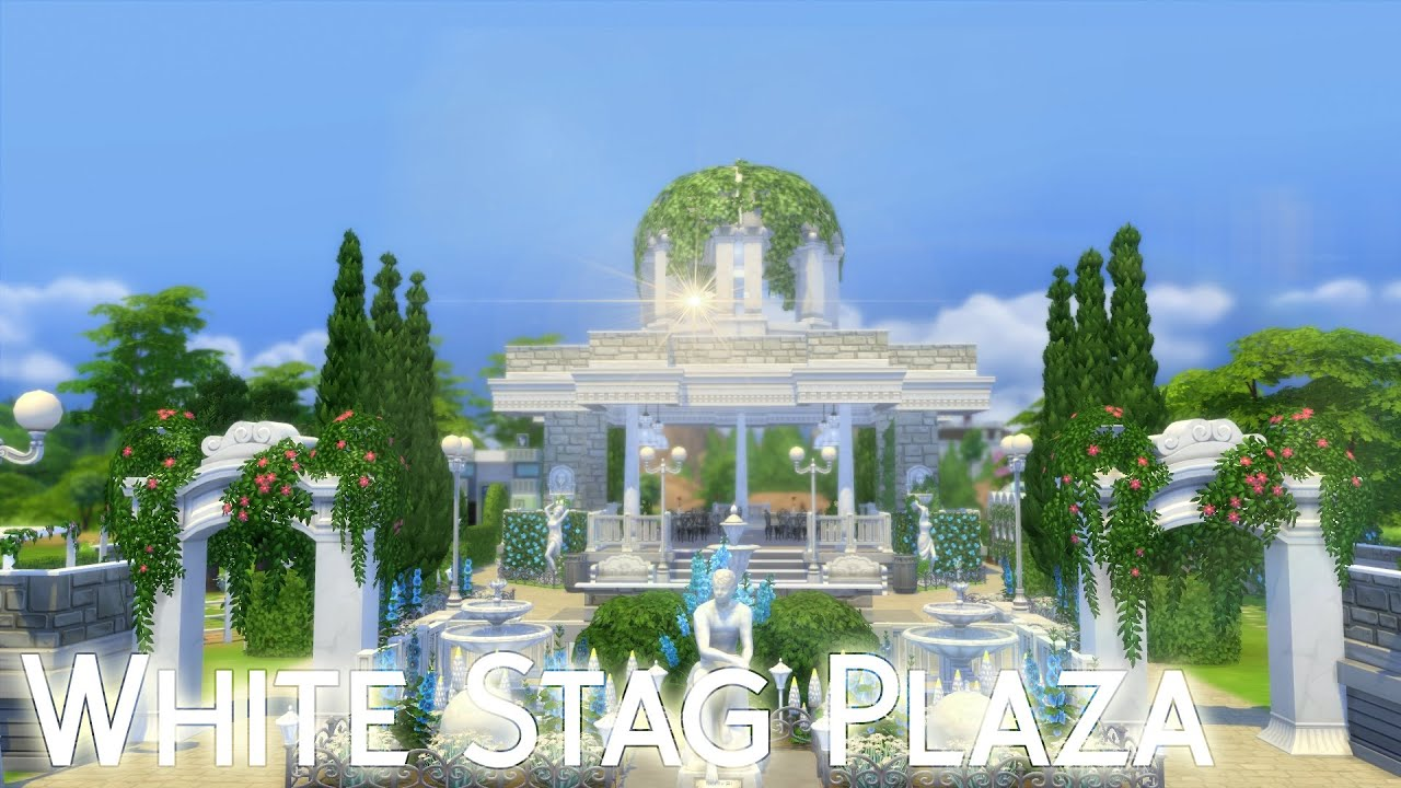 White Stag Plaza Die Sims 4 Park Romantische Garten