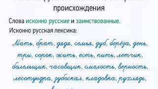 Лексика русского языка с точки зрения происхождения Русский язык 5 класс Low, 360p