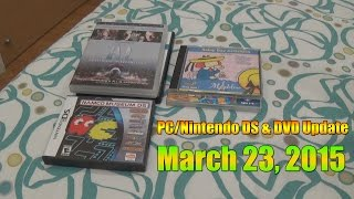PC/Nintendo DS & DVD Update as of Mar 23, 2015
